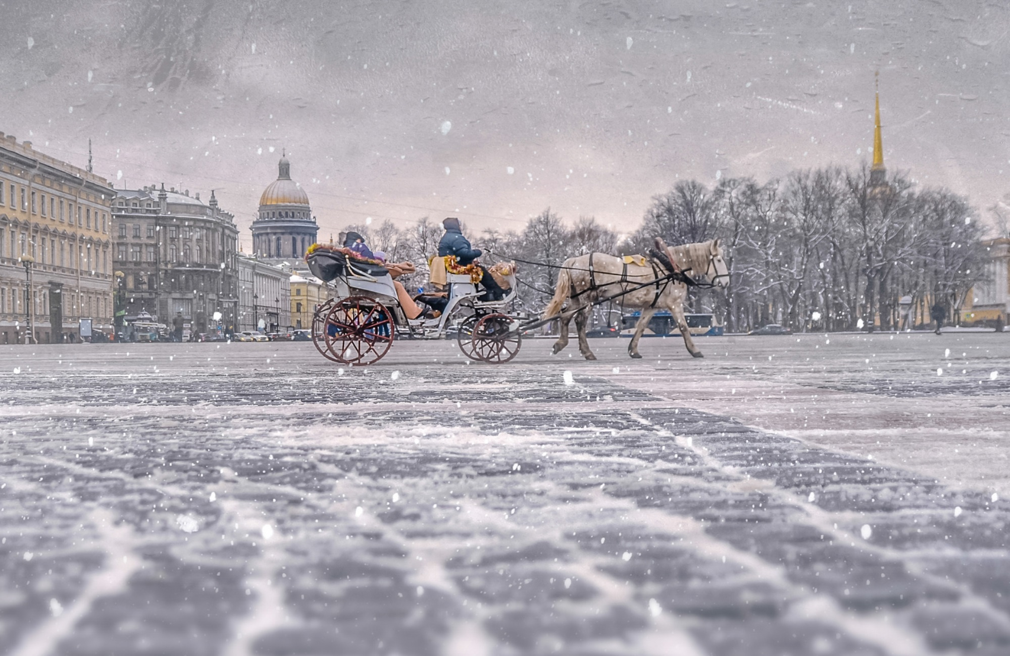 hiver-a-saint-petersbourg- Russie