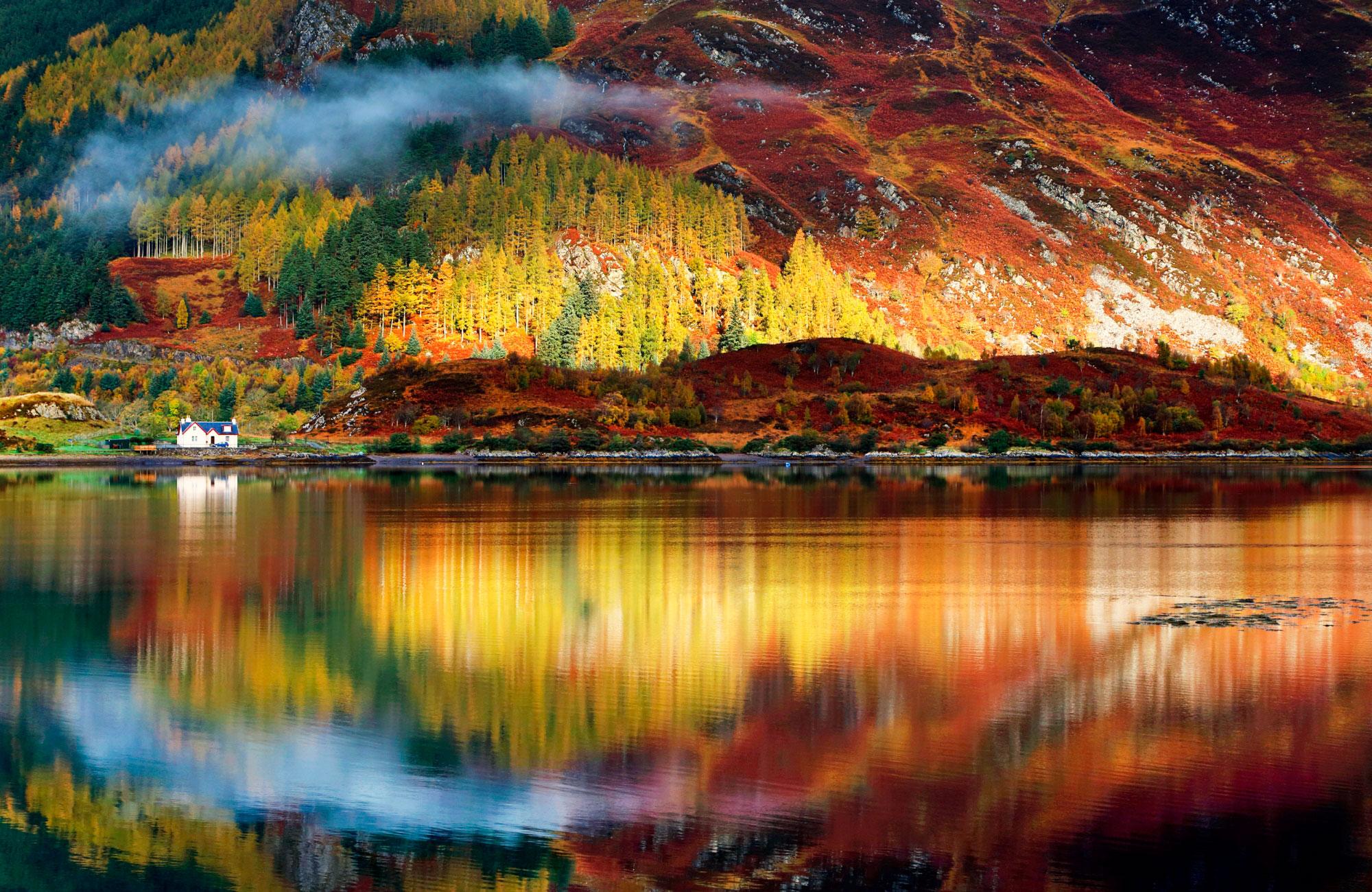 En Ecosse, les Highlands en automne