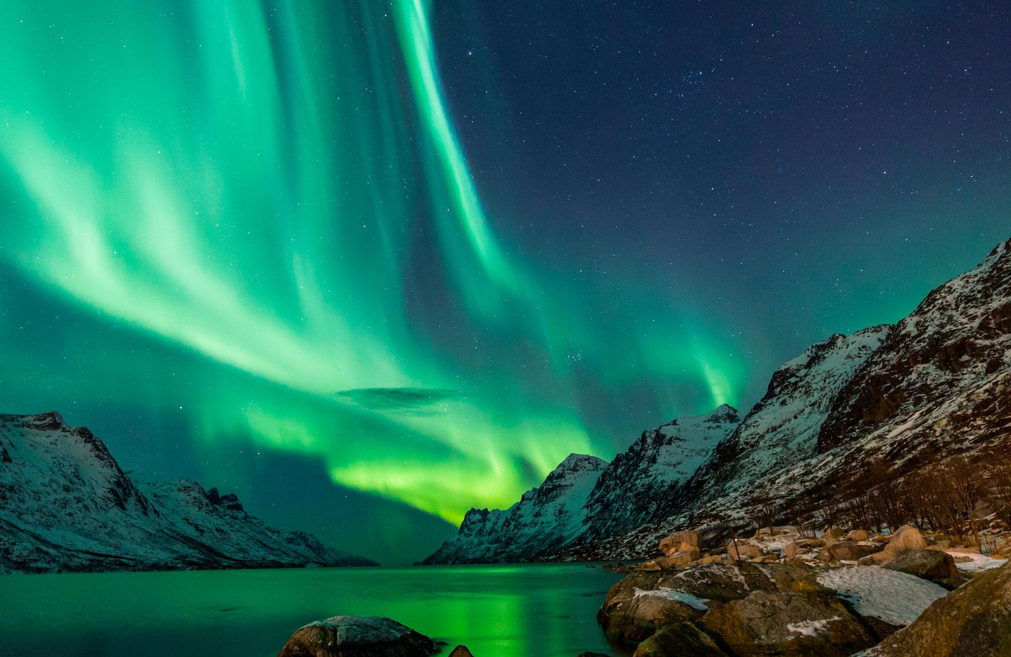 Une aurore boréale en Islande