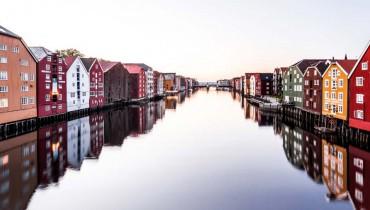 Voyage Norvège - Trondheim River - Amplitudes pano