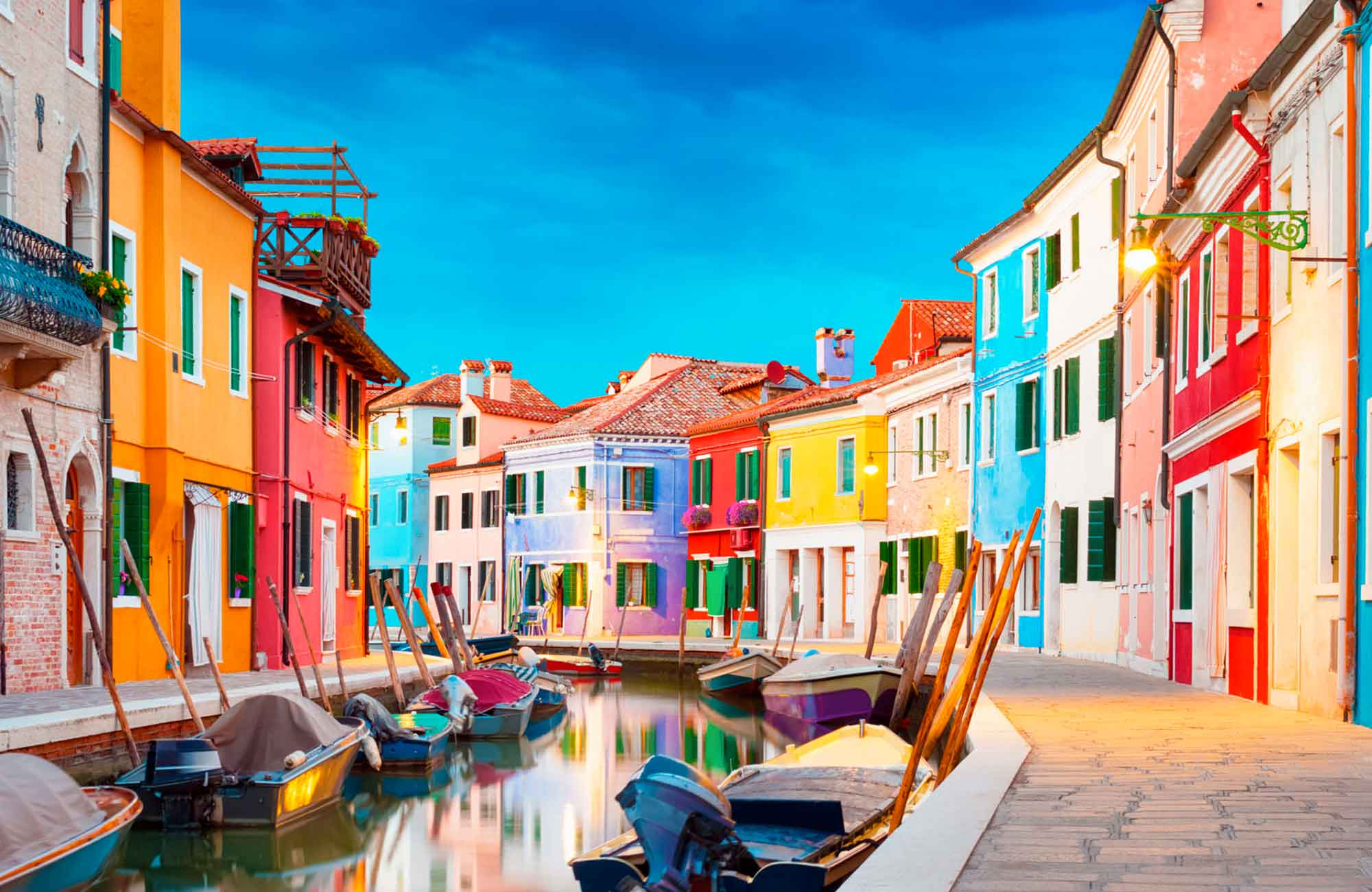 Voyage Venise - Façades colorées de Burano - Amplitudes