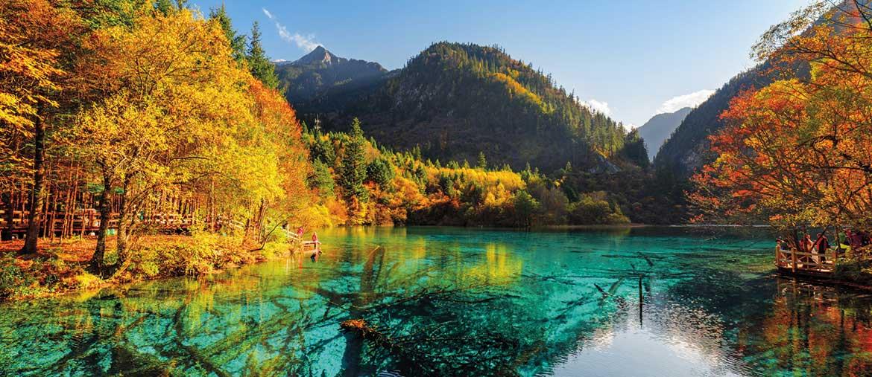 Voyage Chine - Lac des Cinq Fleurs vallée du Jiuzhaigou - Amplitudes