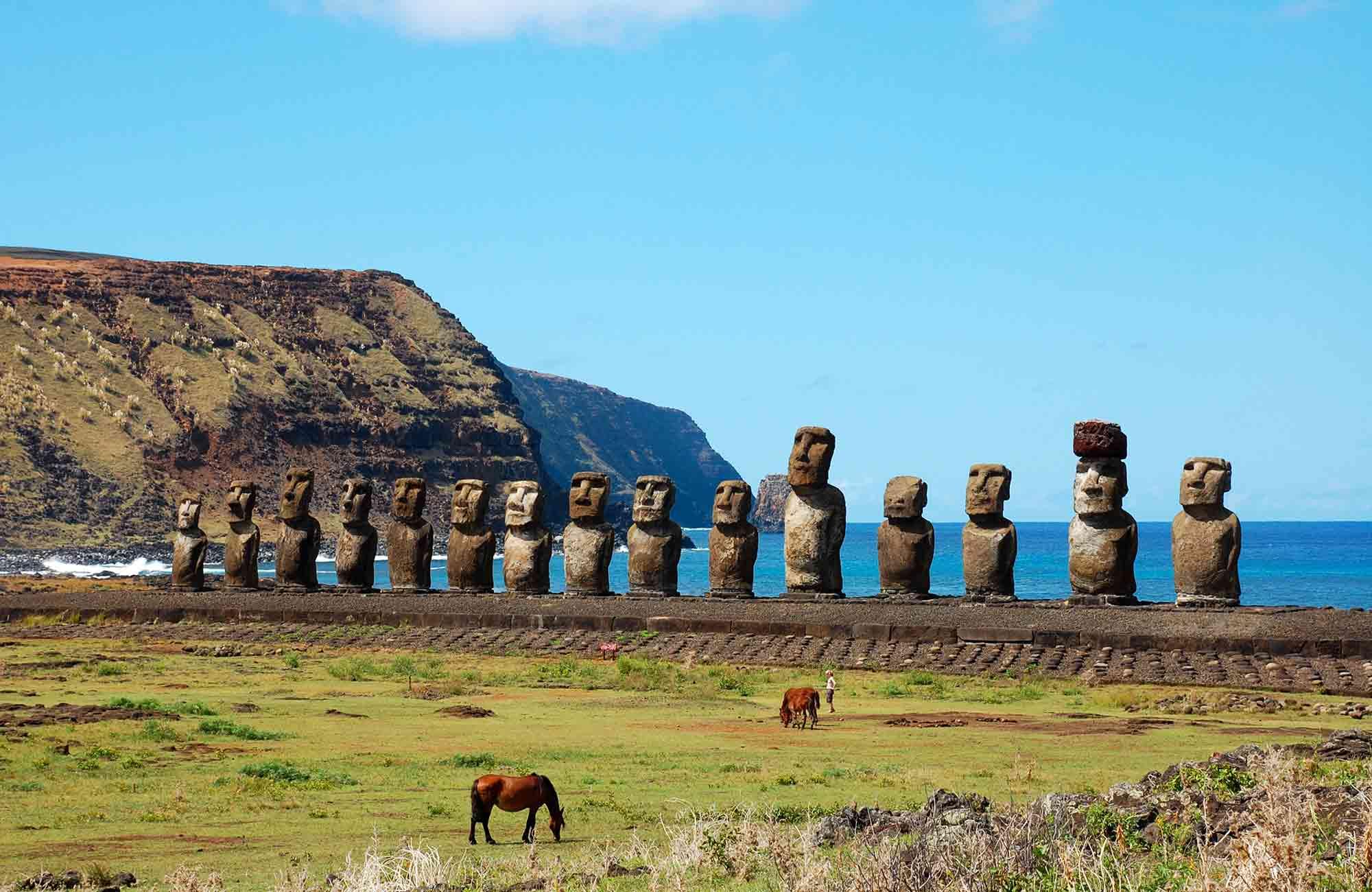 Voyage Ile de Pâques - Ahu Tongariki - Amplitudes