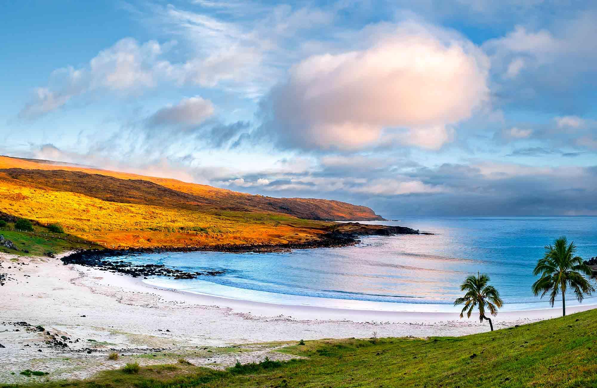 Voyage Ile de Pâques - Plage d'Anakena - Amplitudes