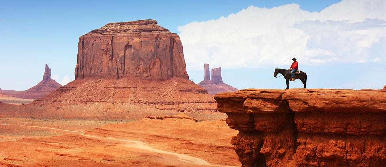 Voyage Ouest américain - Cowboy Monument Valley - Amplitudes