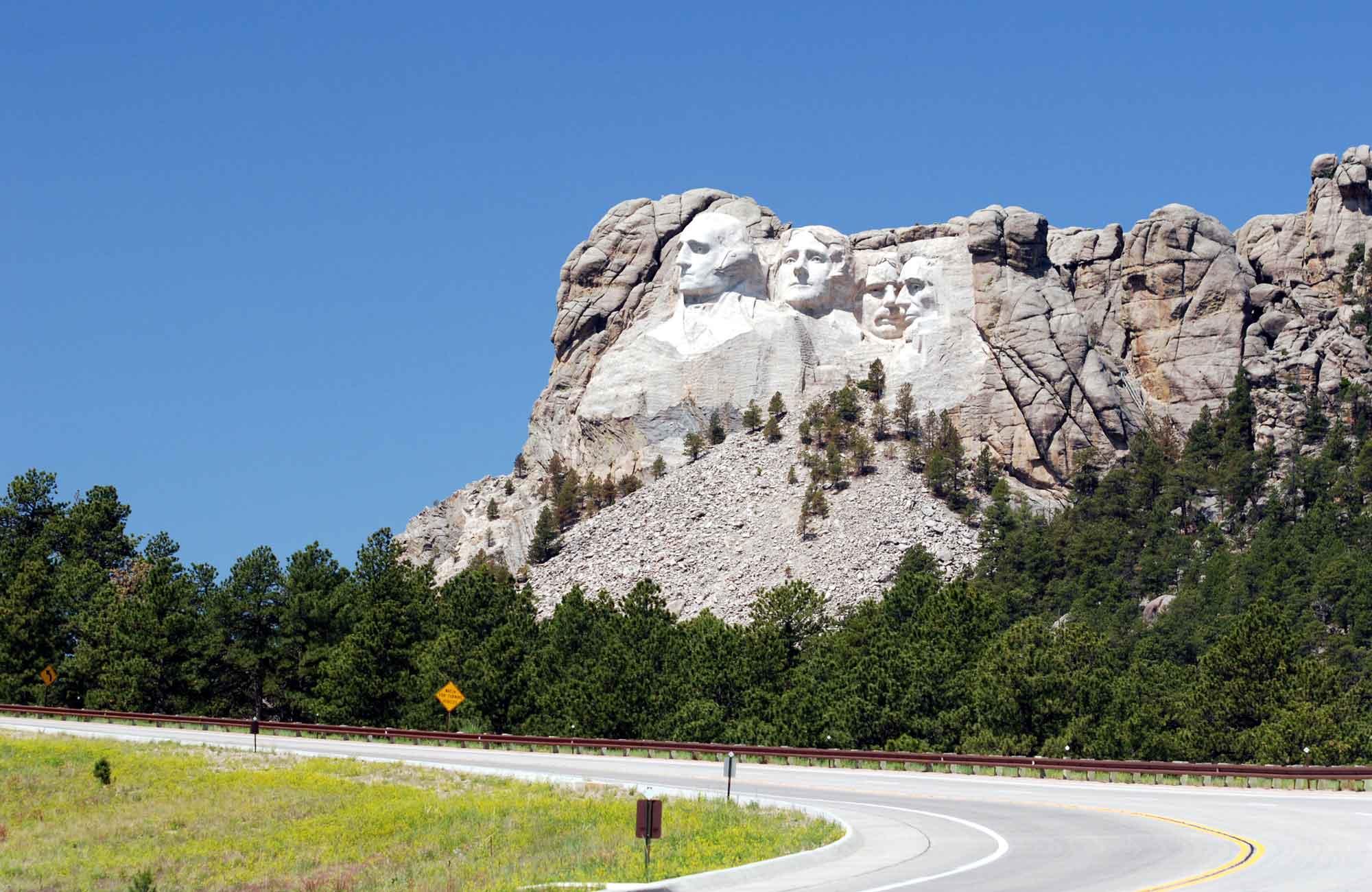Au bout d'un embranchement : le Mont Rushmore