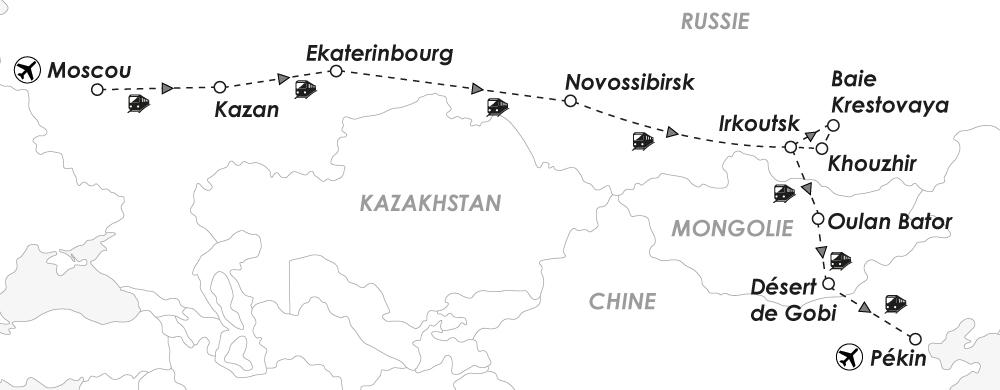 Voyage Transsibérien - Carte - Amplitudes