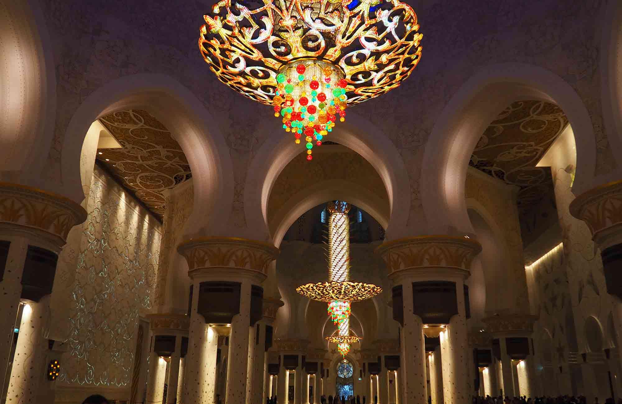 Voyage Abu Dhabi - Intérieur de la Mosquée Cheikh Zayed - Amplitudes