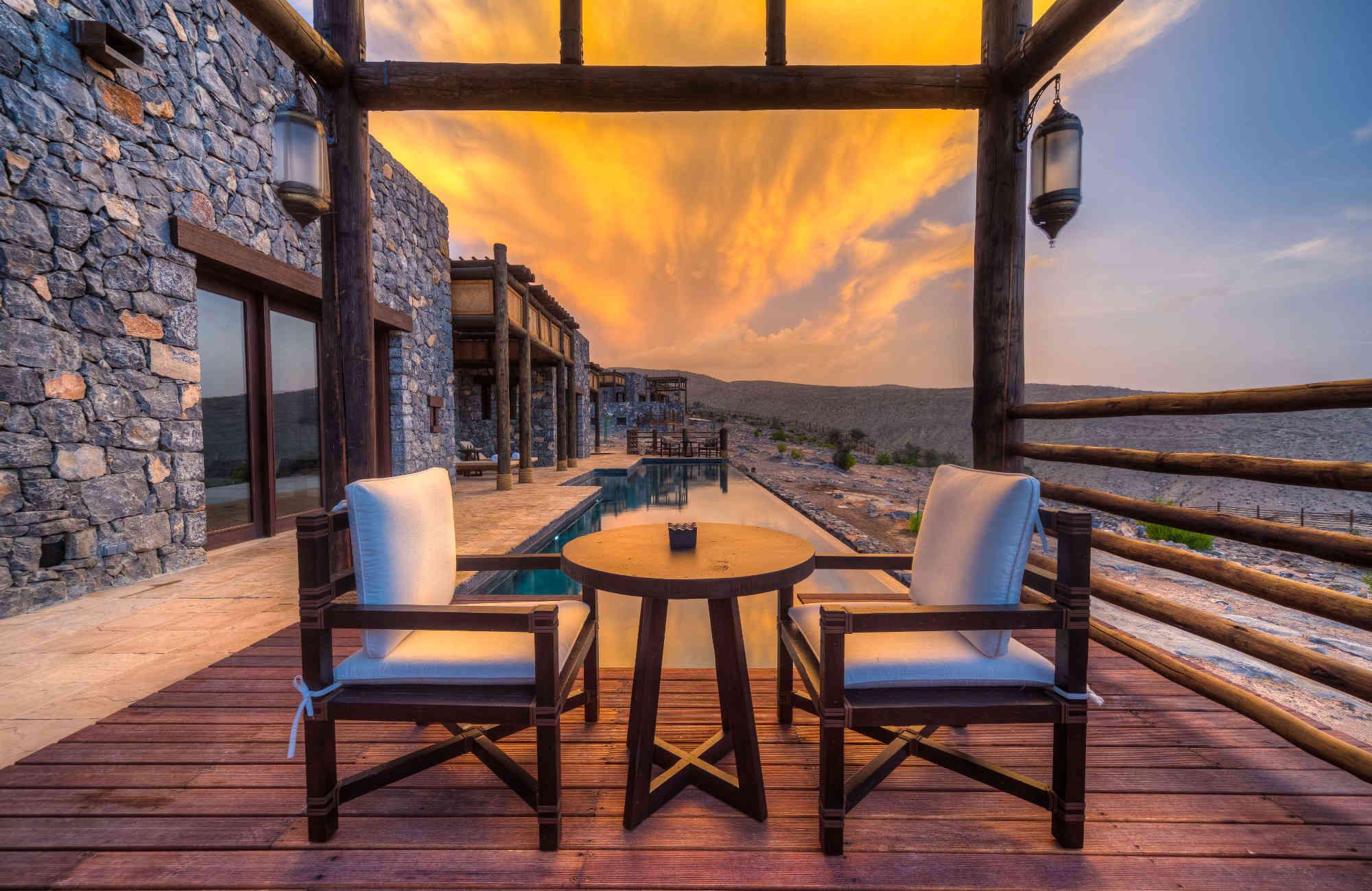 hôtel Alila Jabal Akhdar à Oman par Amplitudes pour un voyage de couple