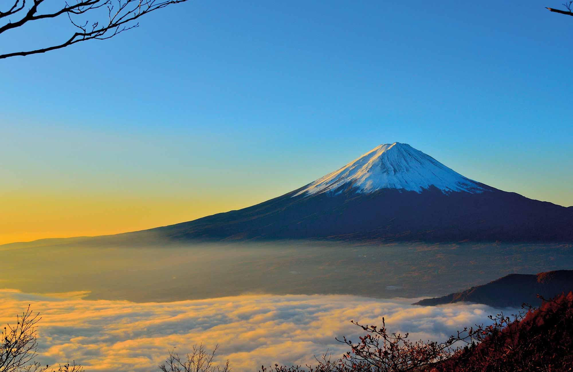 Lever de soleil sur le Mont Fuji au Japon
