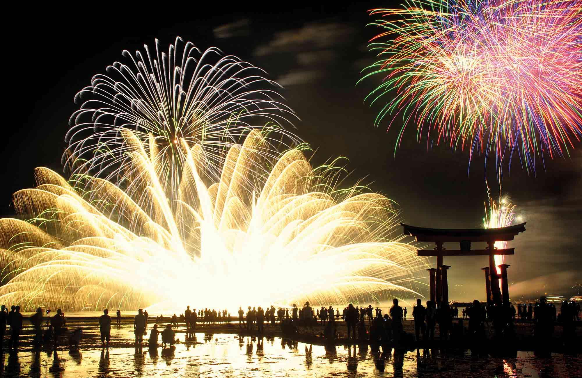 Hanabi les feux d'artifice au Japon en été avec Amplitudes