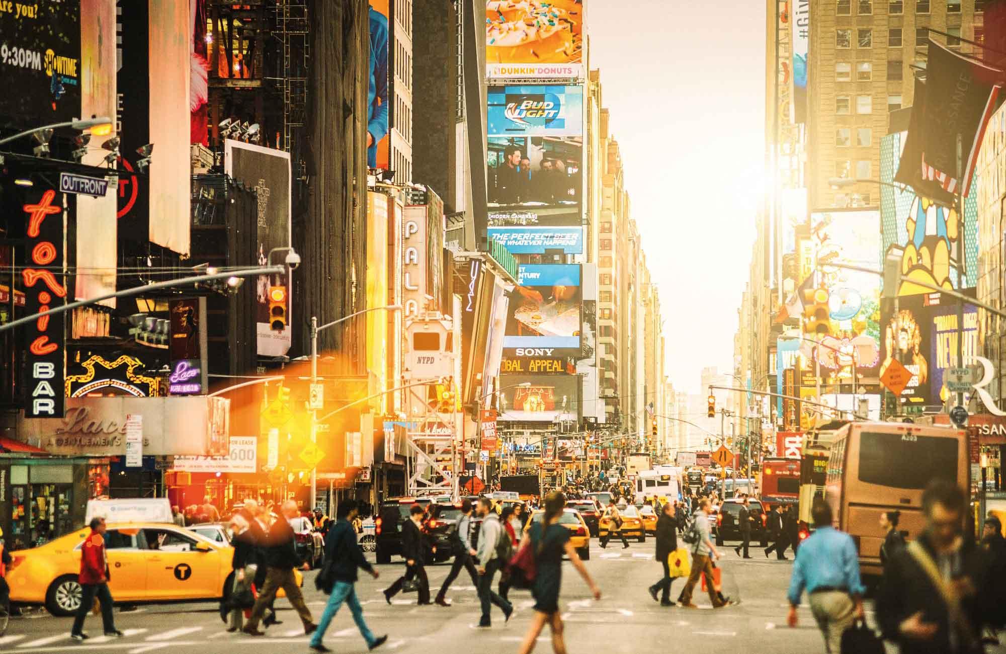 times square à New York lors des quatre jour de pont en Mai