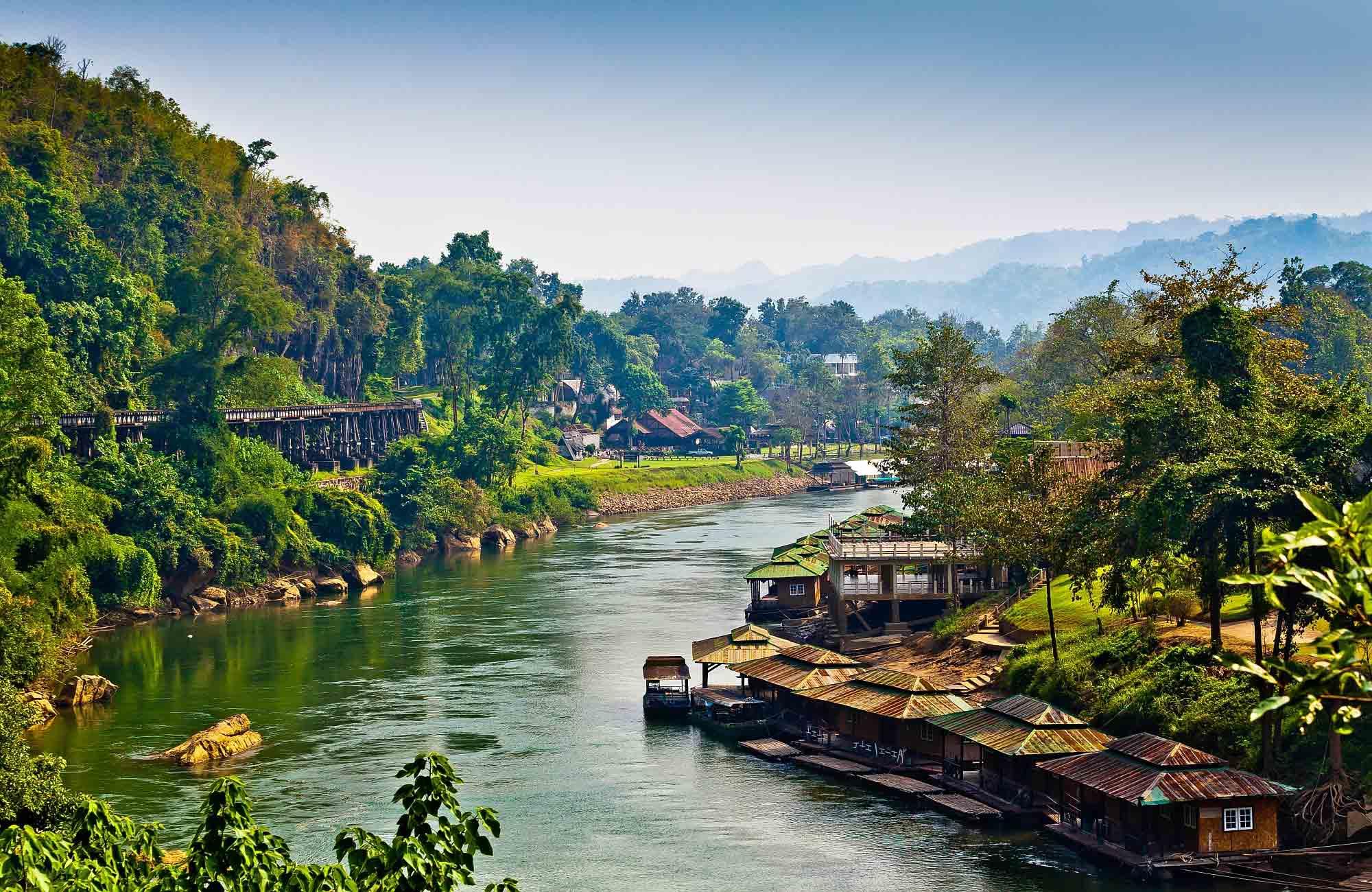 Voyage Thailande - Riviere Kwai province Kanchanaburi - Amplitudes