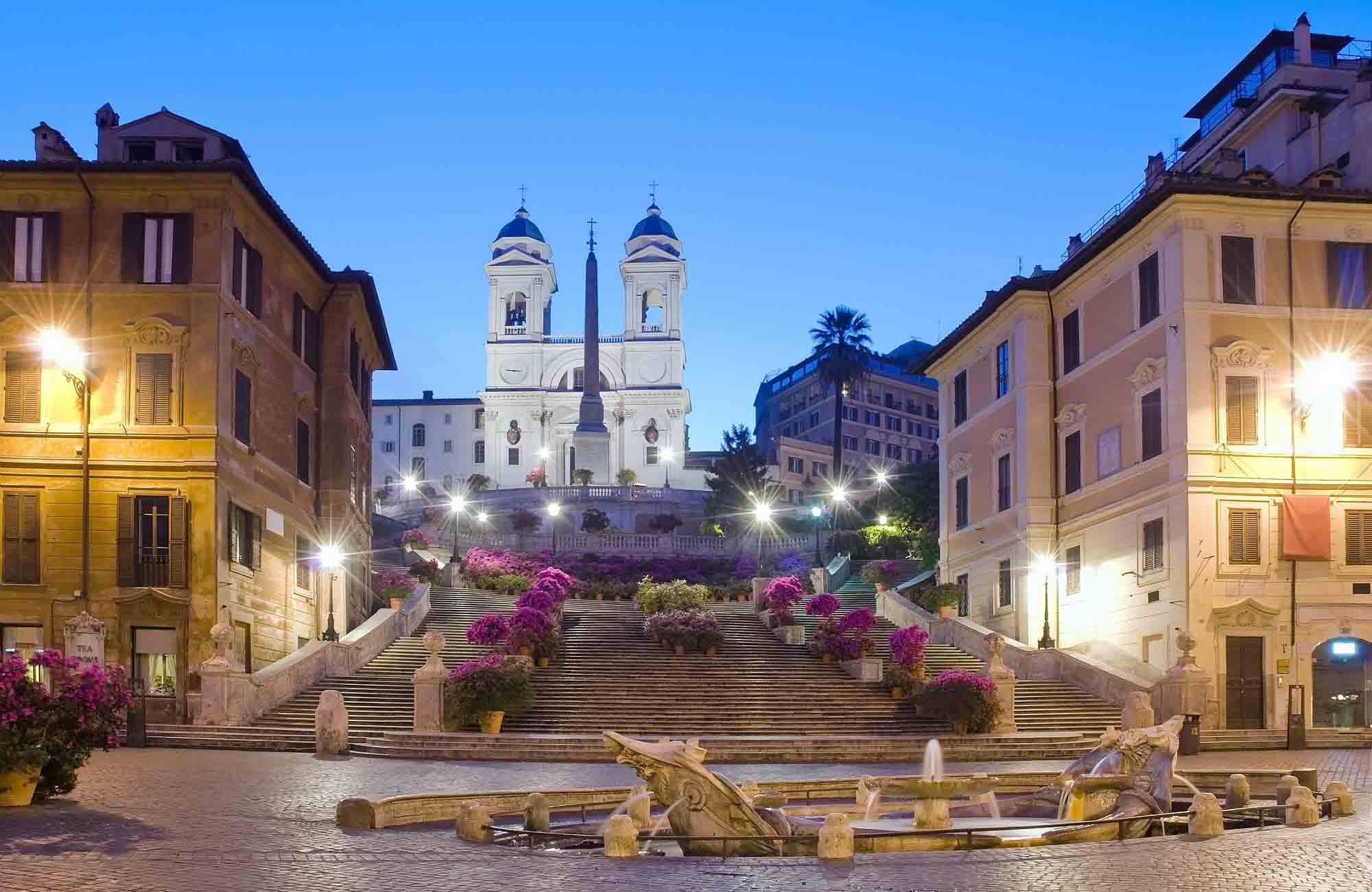 Voyage Italie - Rome place d'Espagne - Amplitudes