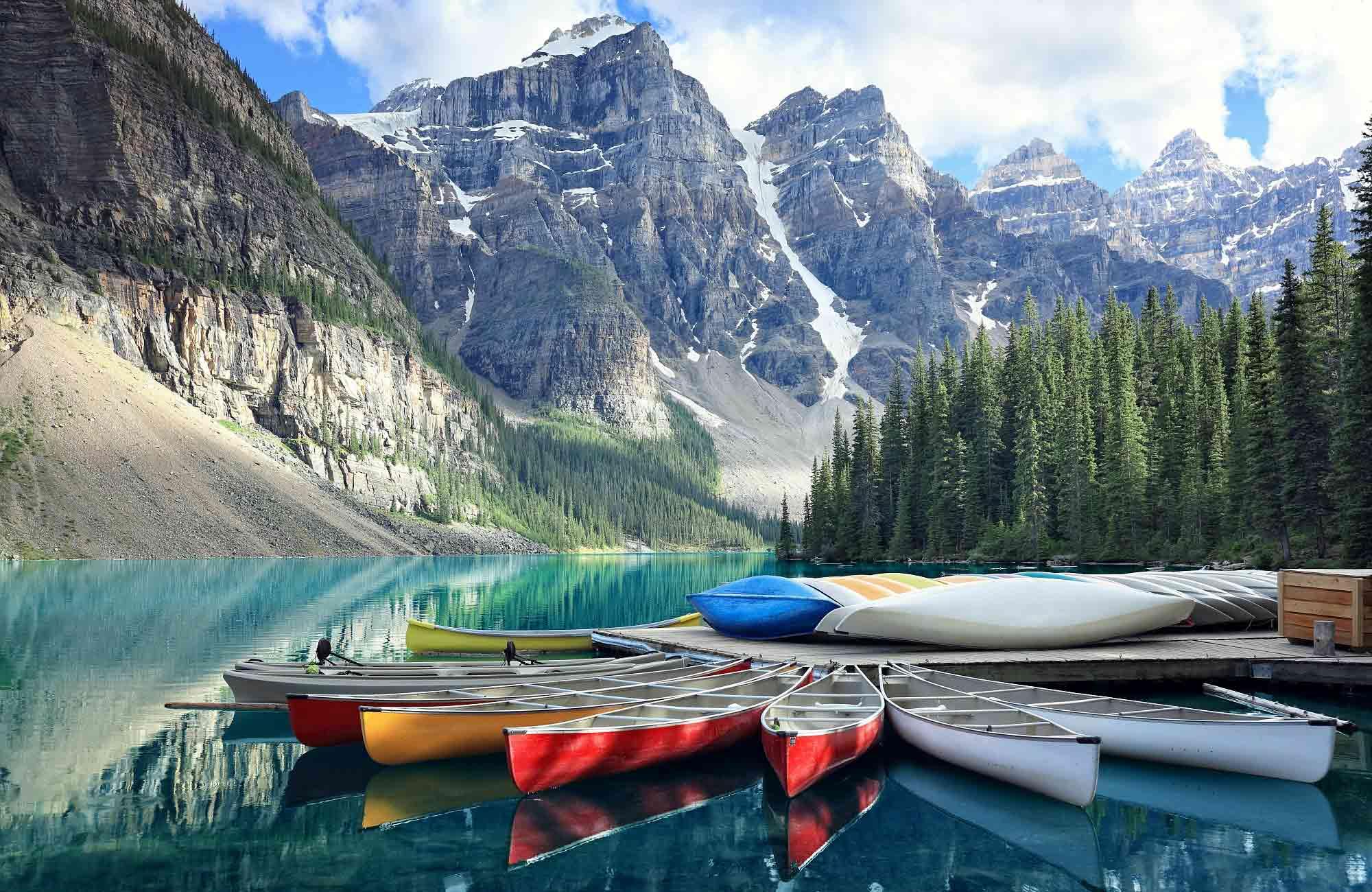 Voyage au Canada-lac-Moraine-Parc-National de Banff- Amplitudes