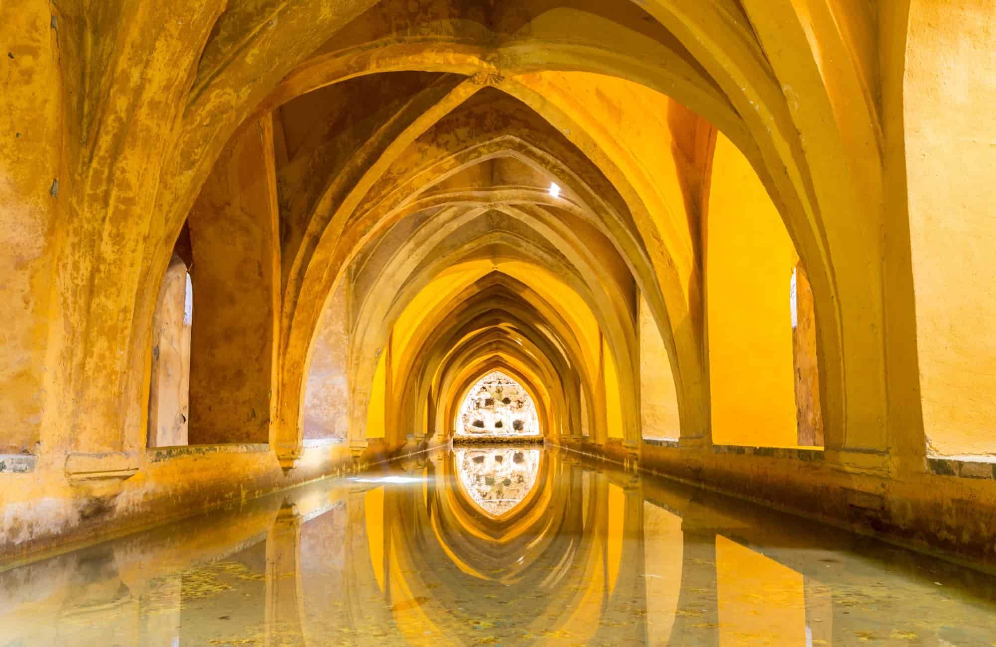 Salle de bain royale dans l'Alcazar de Séville - Recoup