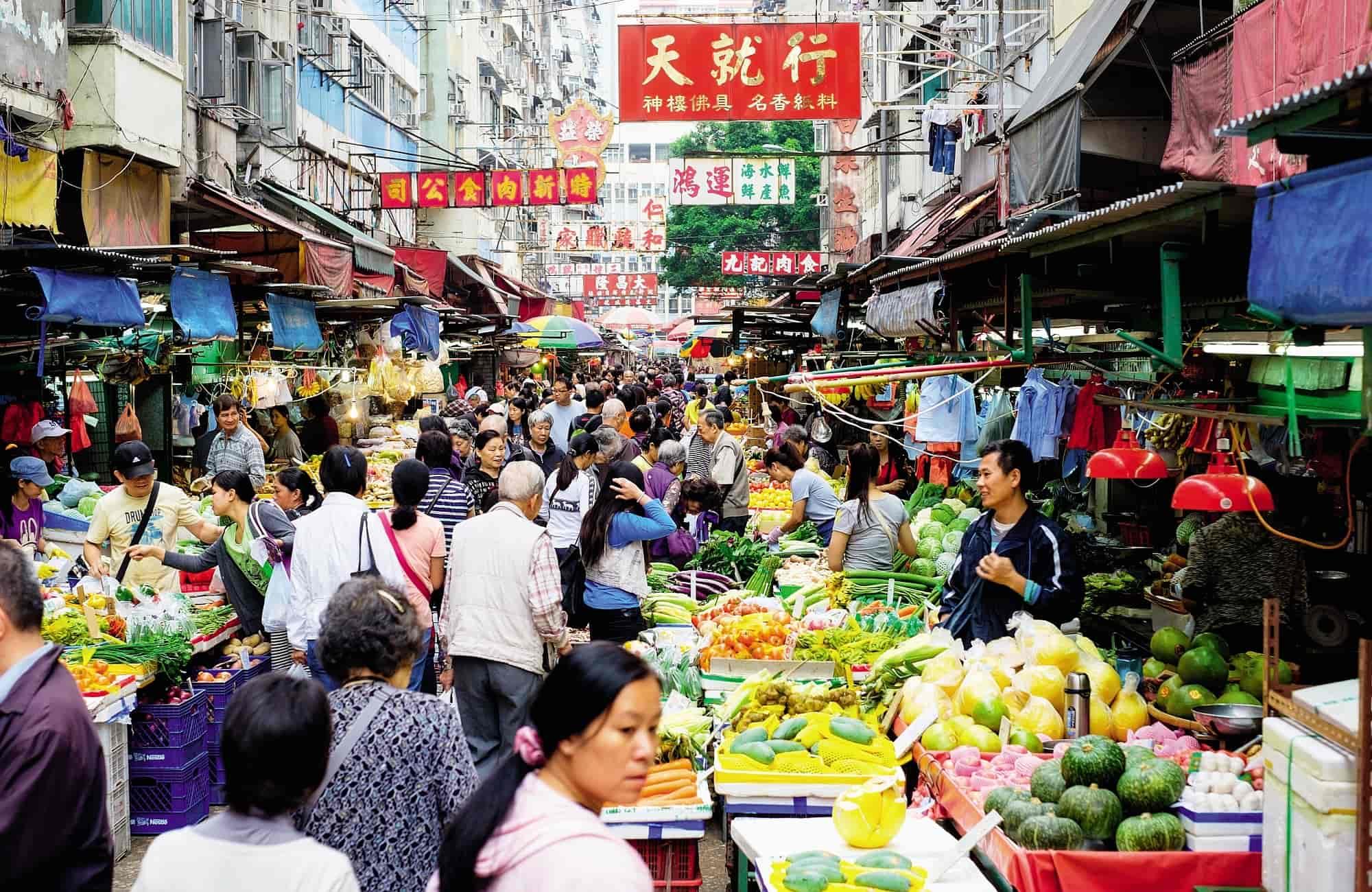A chacun ses recettes sur le marché d'Hong Kong