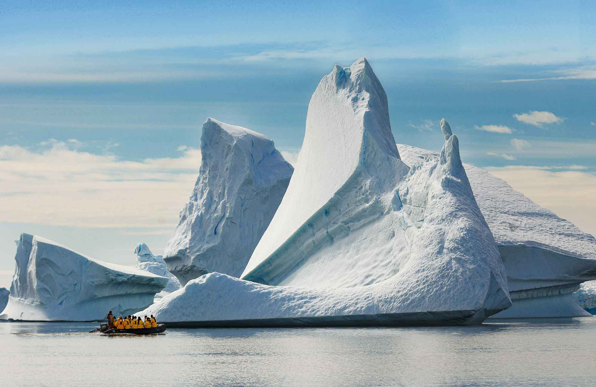 Balade entre les icebergs d'Antarctique