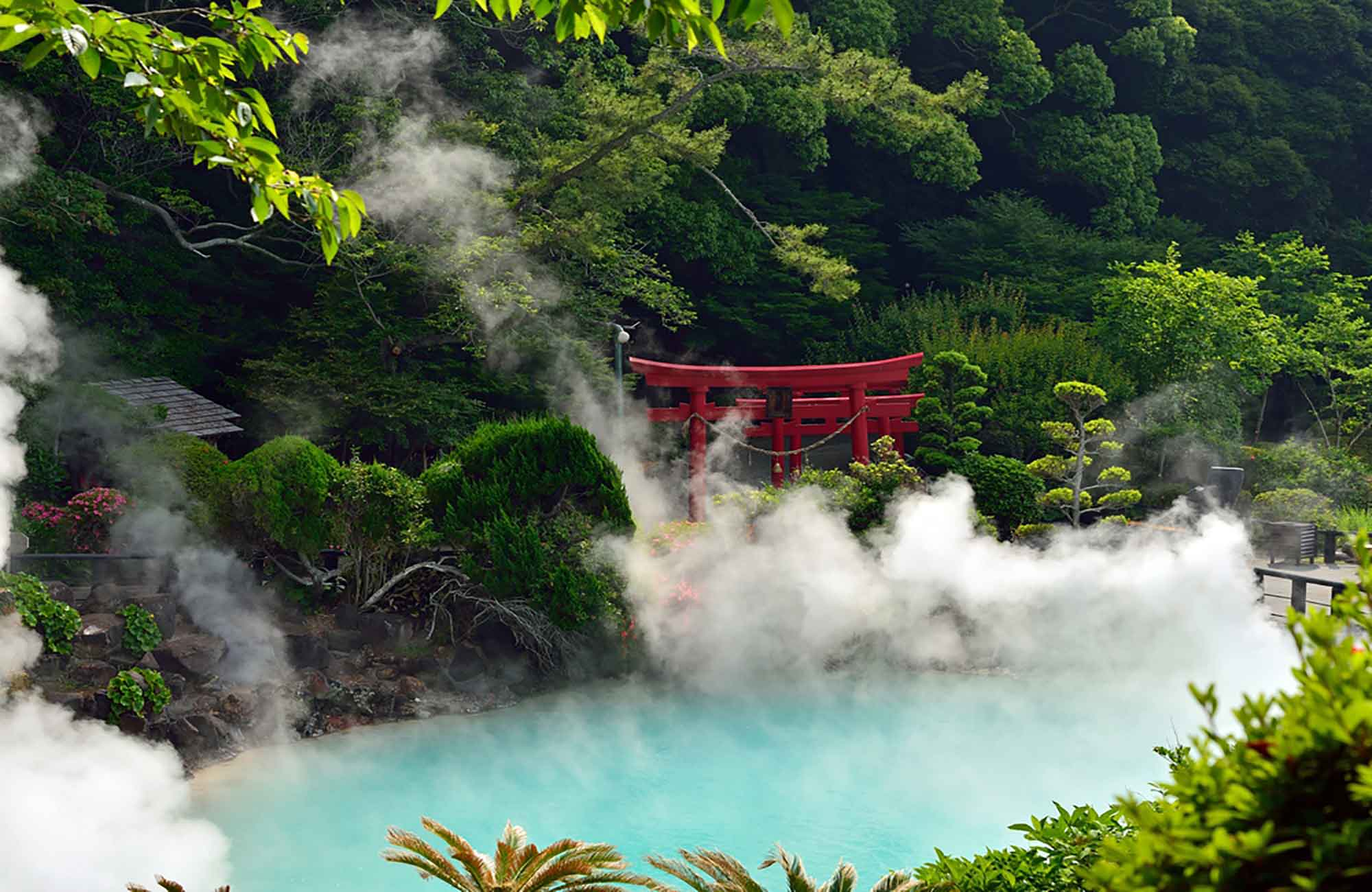 Sources chaudes Umi jigoku à Beppu
