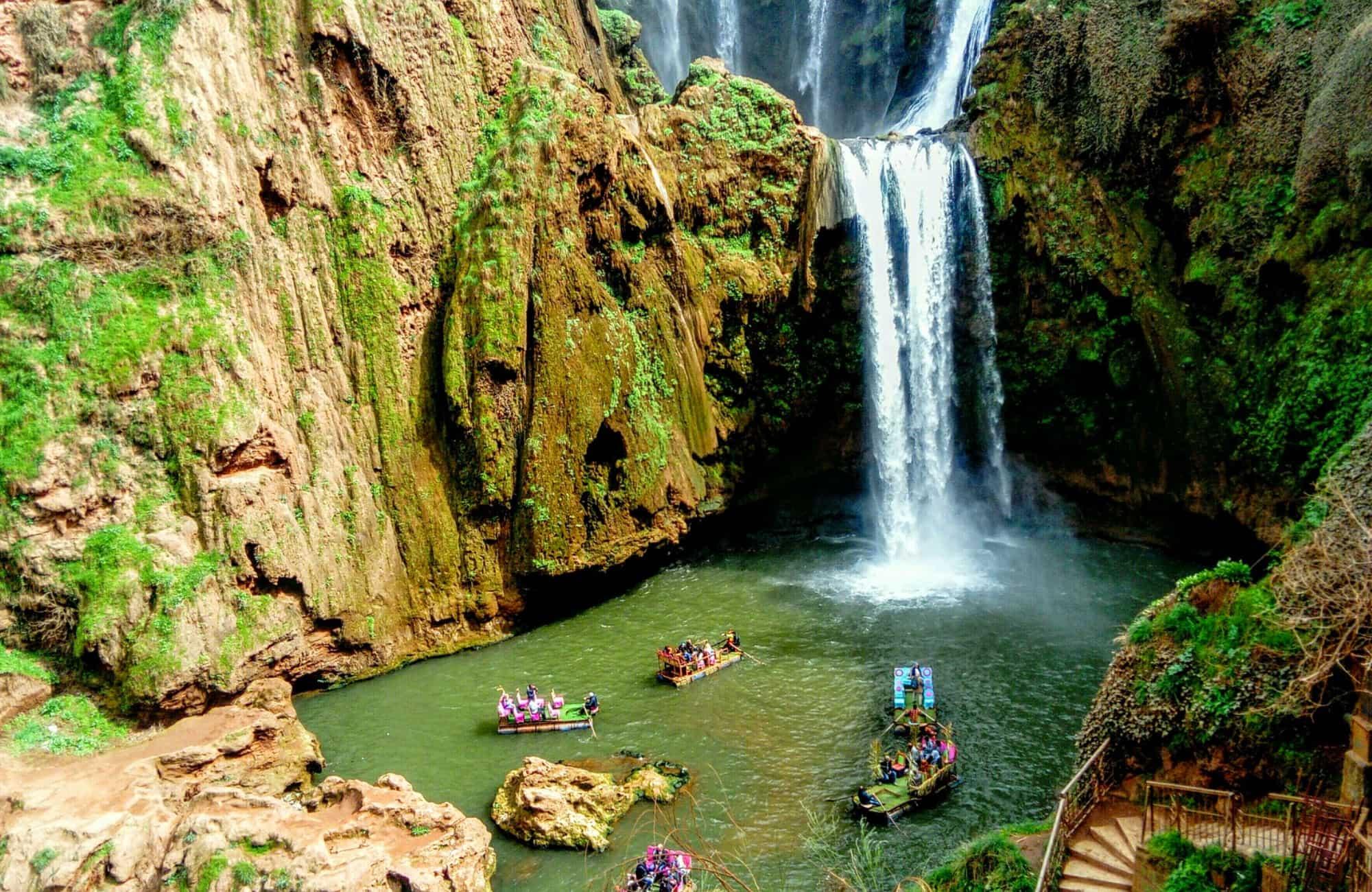 Cascades d'Ouzoud au milieu de l'Atlas