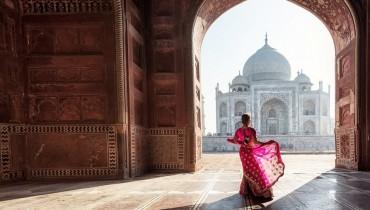 le Taj Mahal à l'horizon lors d'un voyage avec amplitudes