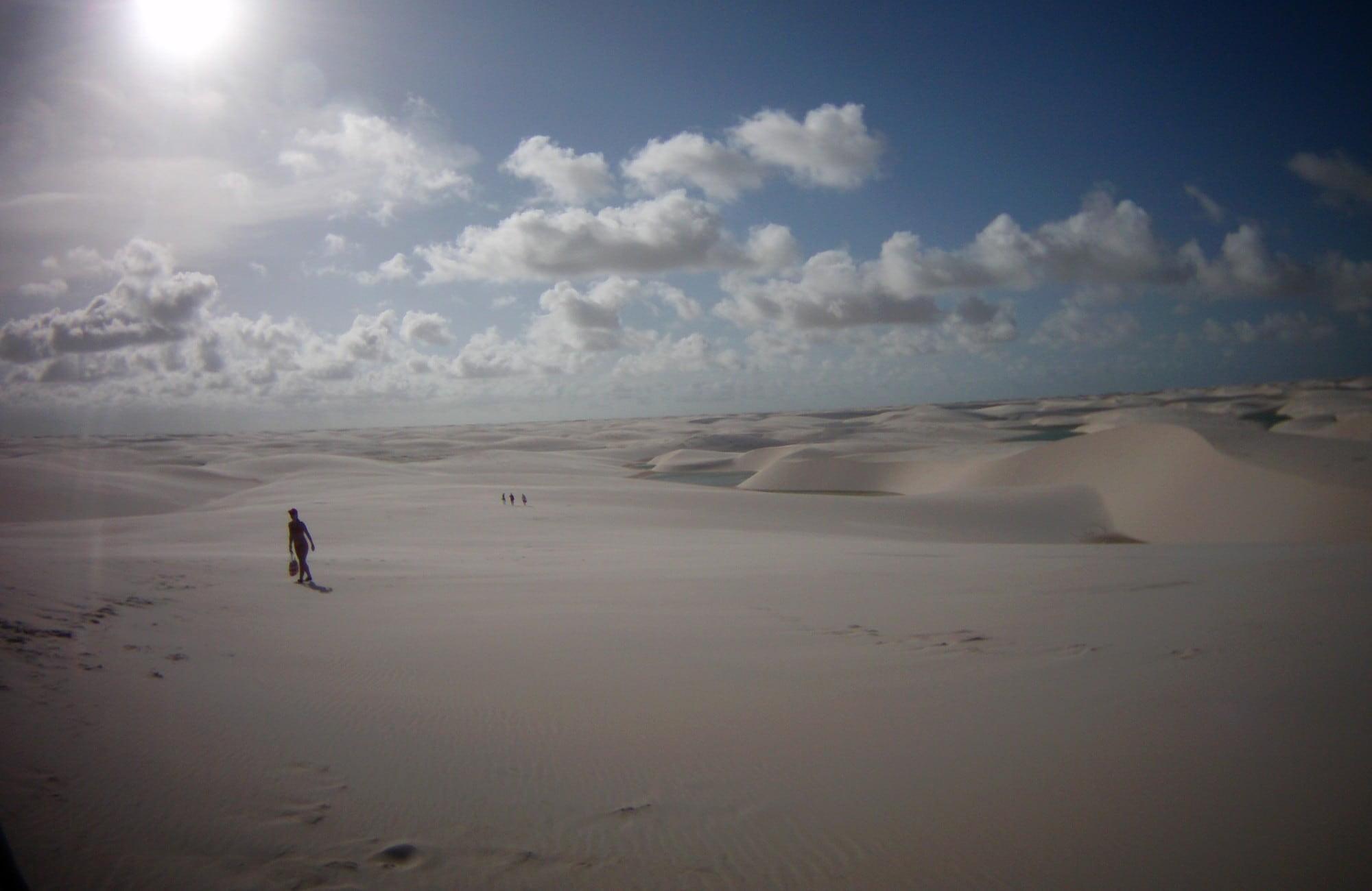 La beauté des dunes du désert des Lençois