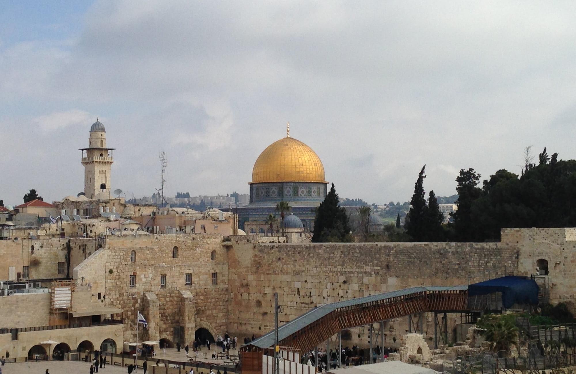 Découverte de jérusalem, le mur des lamentations