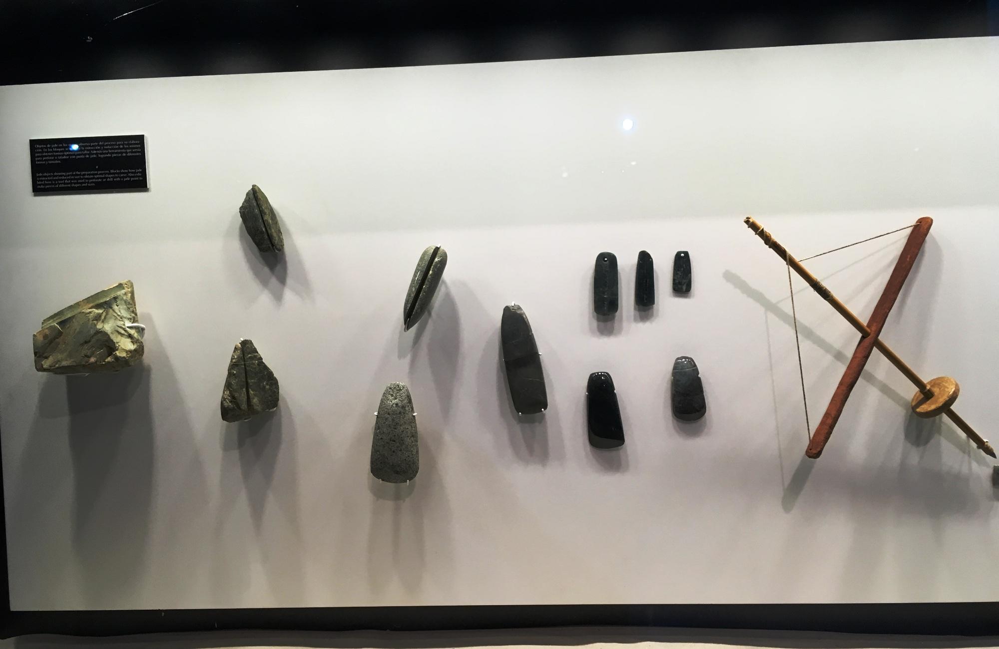 Exposition de plusieurs pierre de Jade