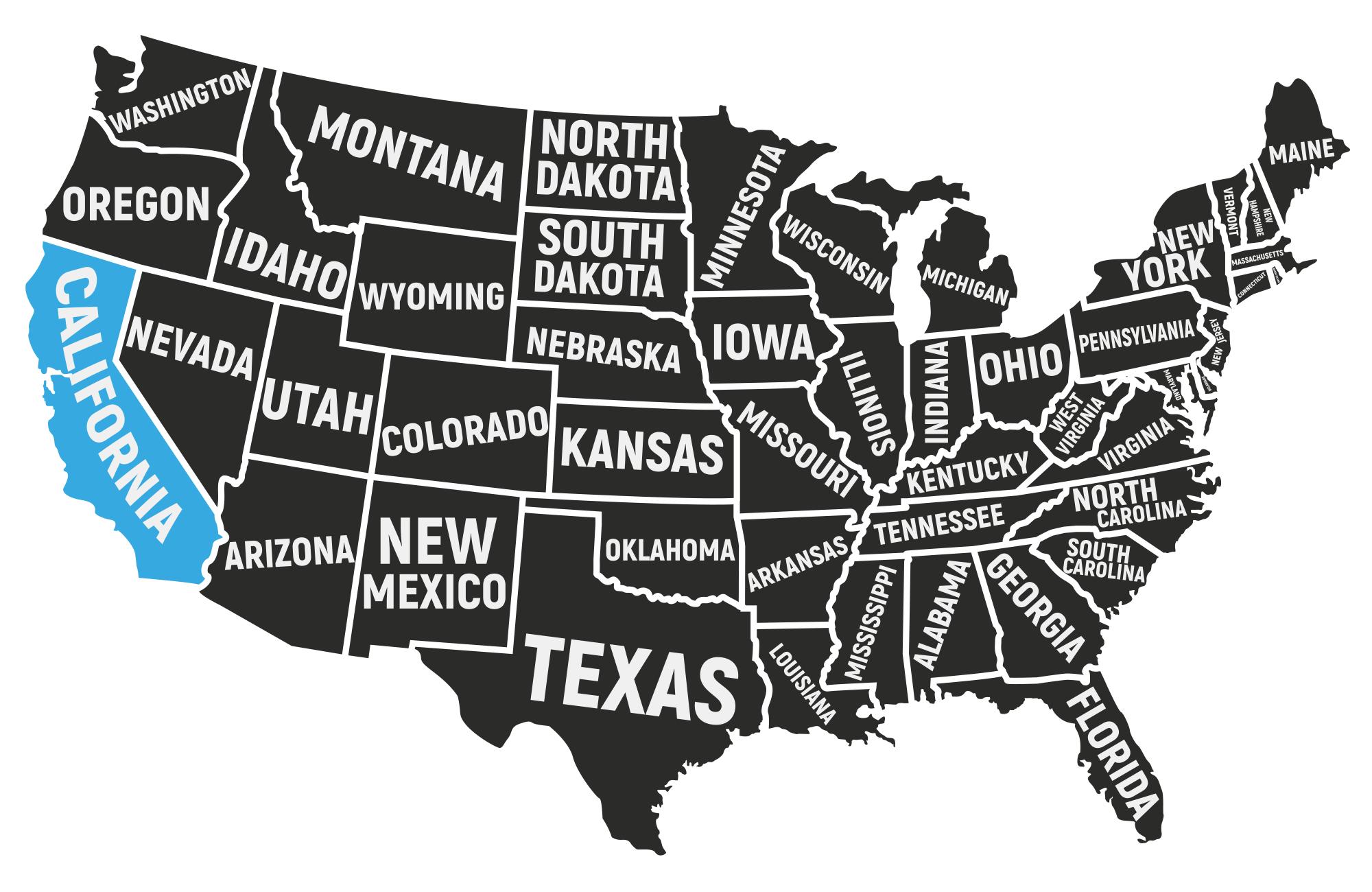 Voyage-Carte des USA-Amplitudes