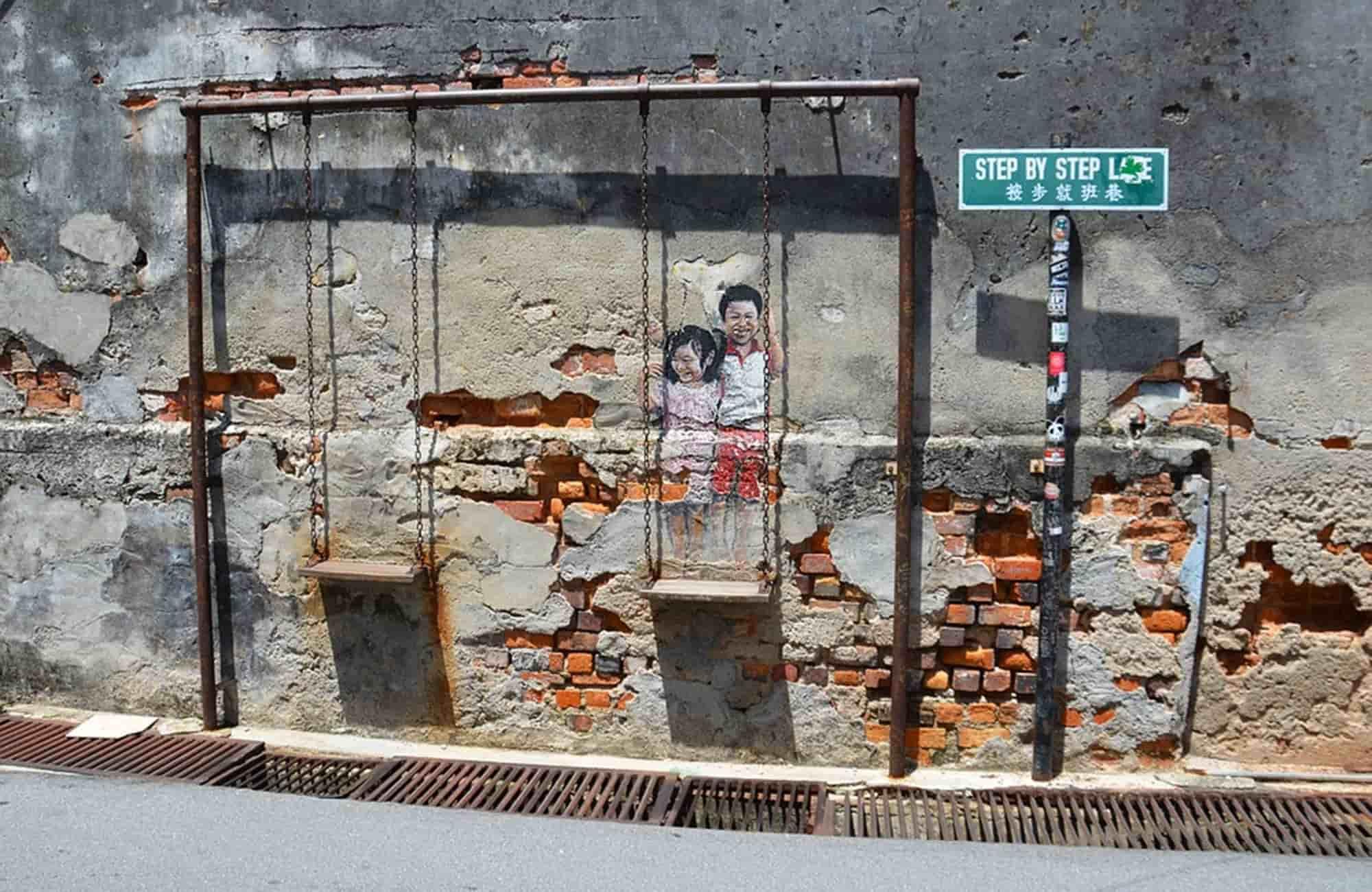 Voyage en Malaisie - Street-art à George town - Amplitudes