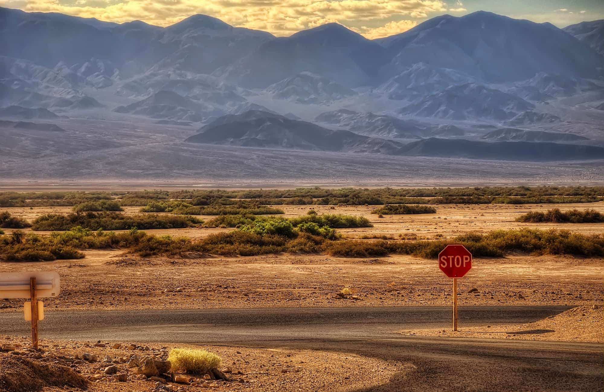 Vue sur le parc National de Death Valley