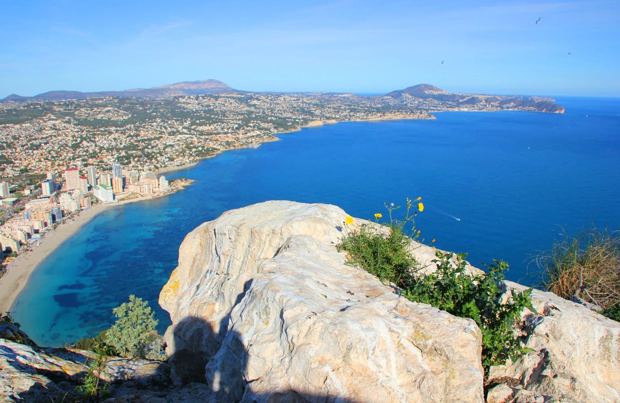 Balcon sur la Méditerranée, depuis Peñón de Ifach