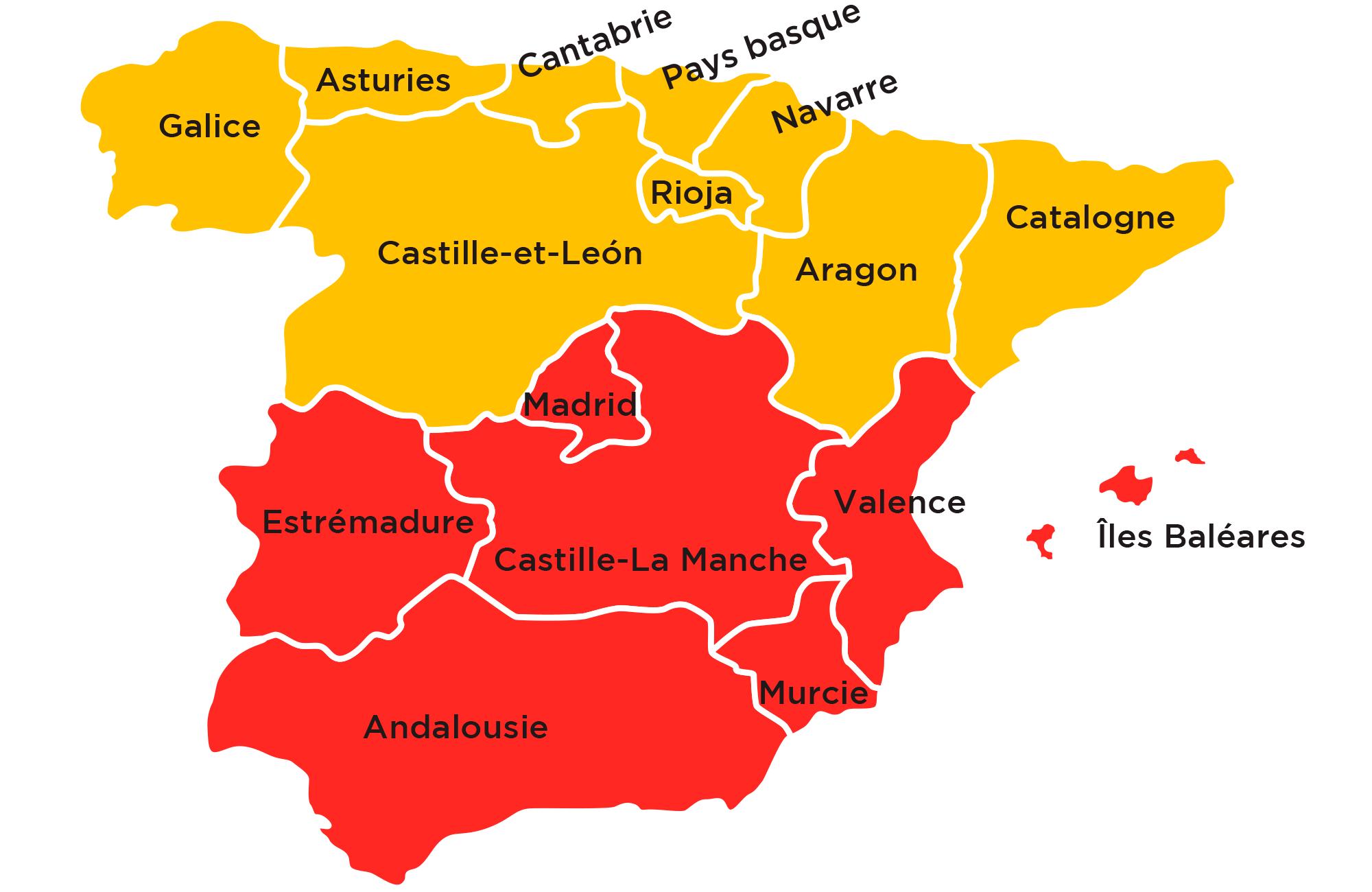 L'Espagne du Nord au Sud