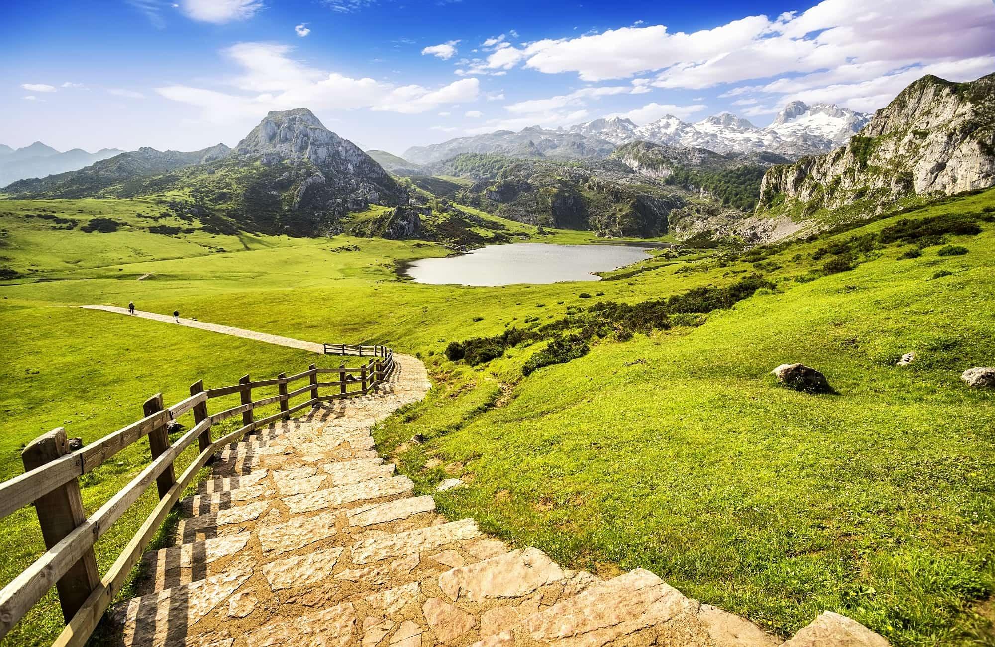 Lac de Covadonga dans les Asturies