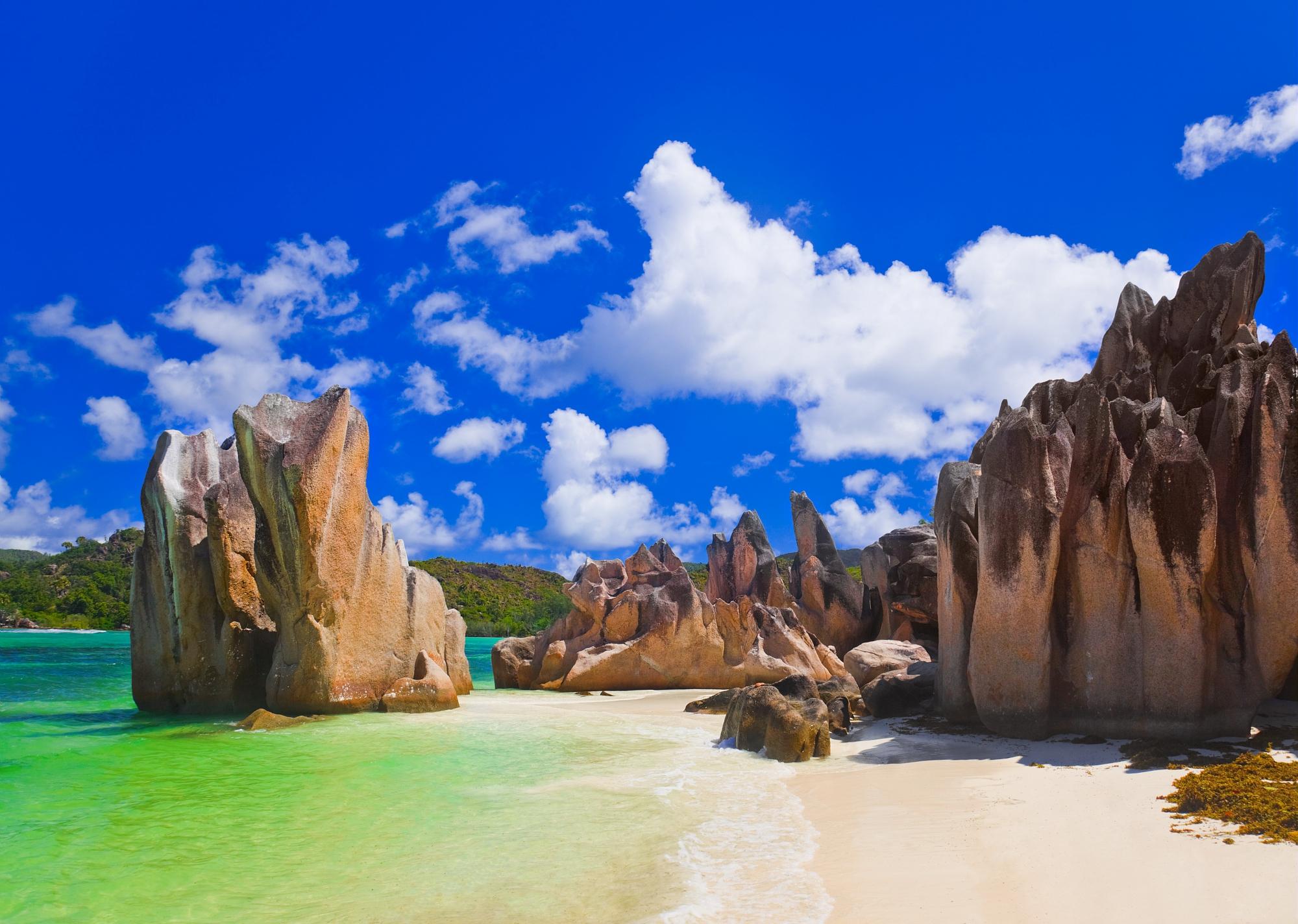 Balade sur les plages granitiques des Seychelles