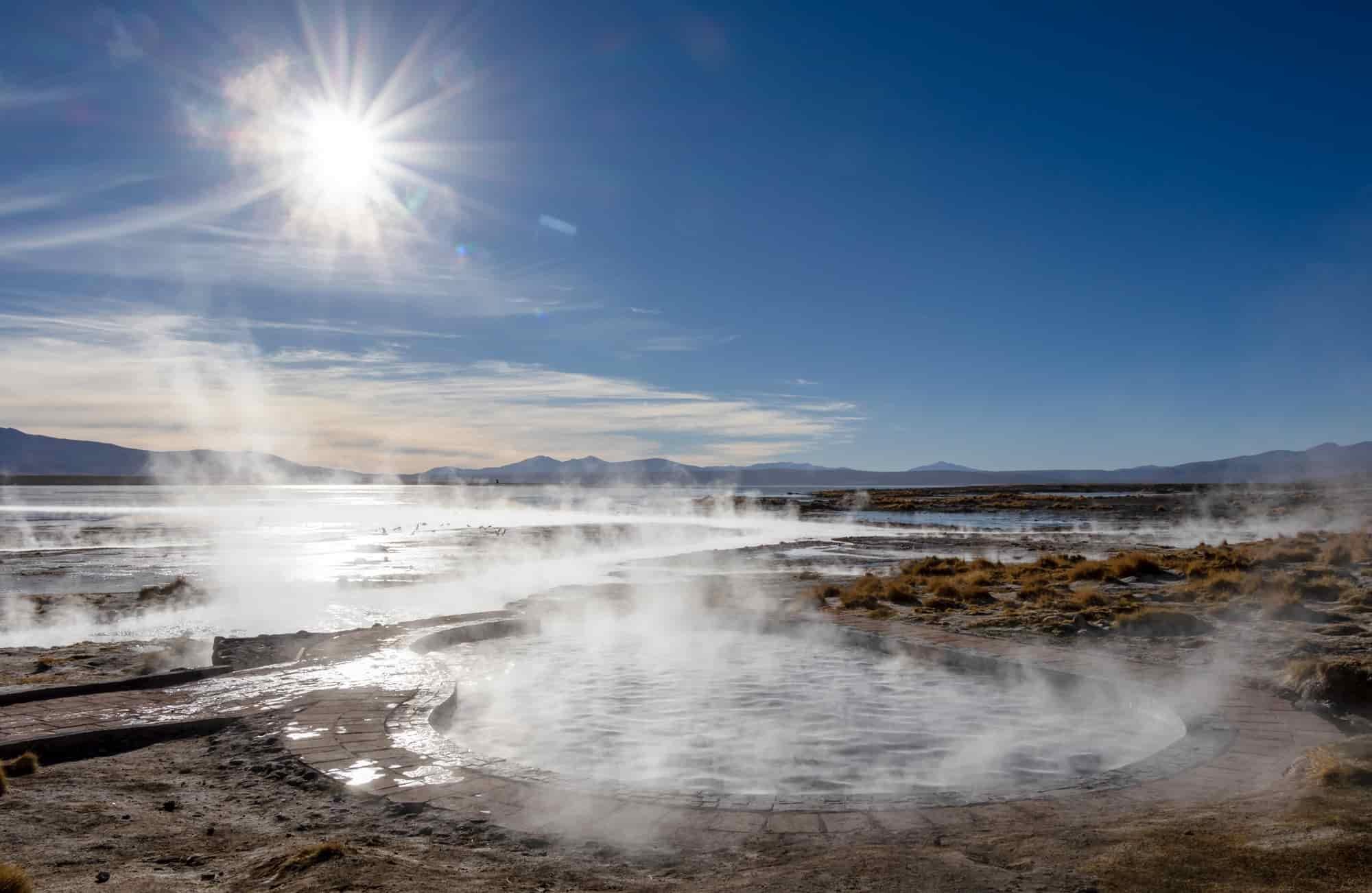 Les bains de Polques dans le Sud Lipez vous offre une parenthèse confortable dans un environnement aride.