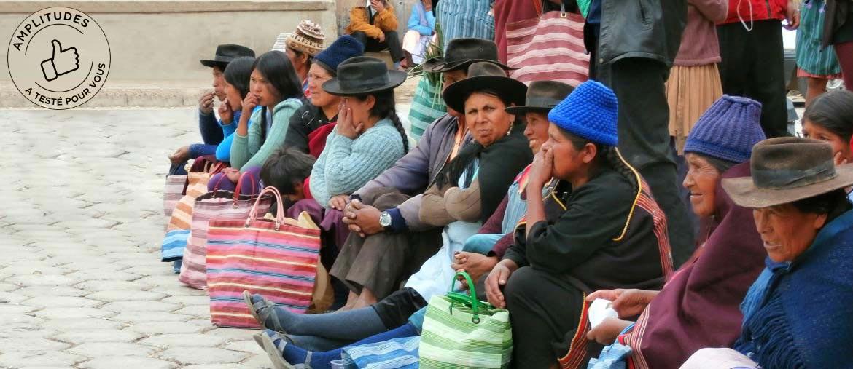 Cholitas sur les marchés de Bolivie