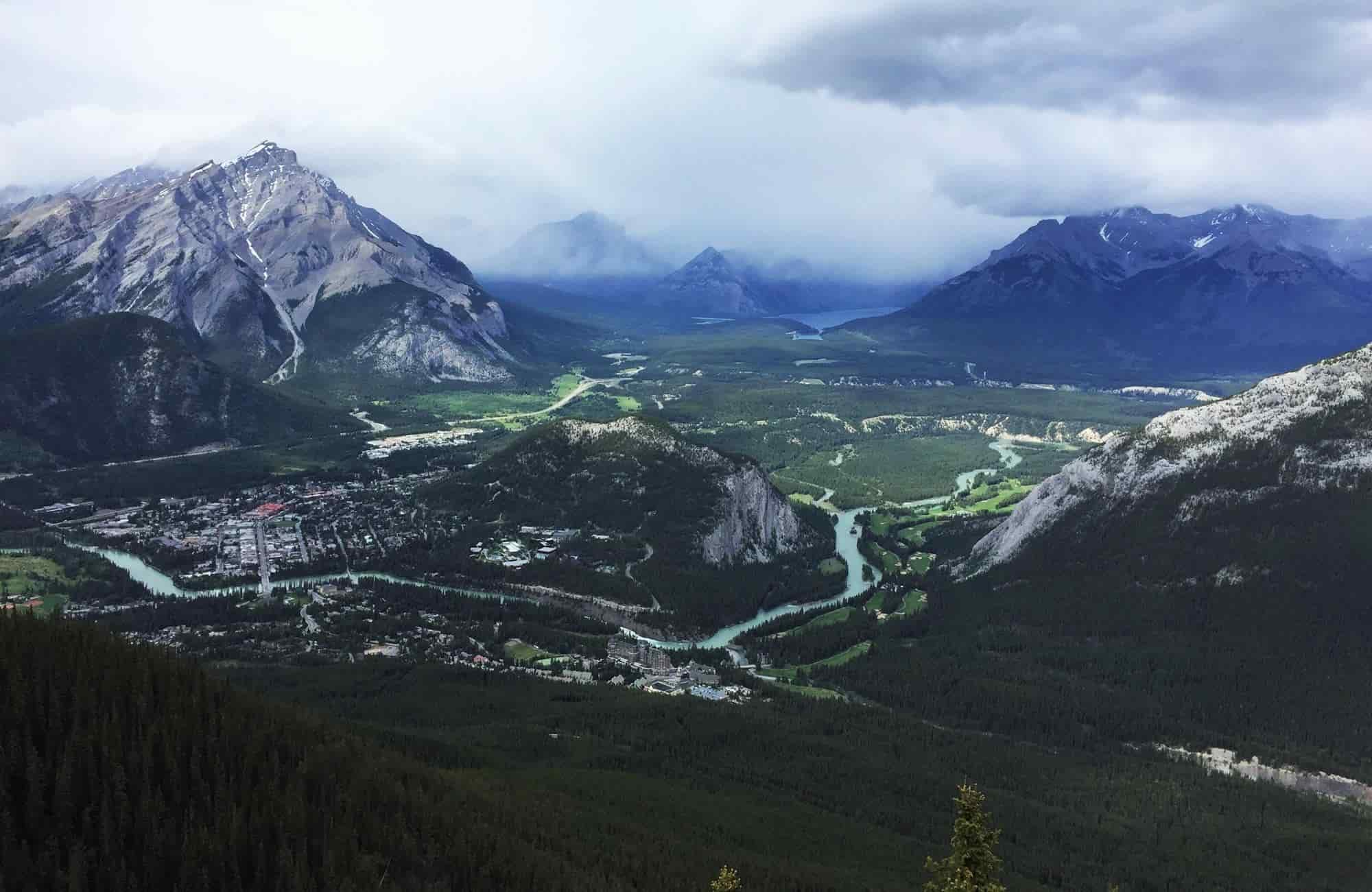 Voyage au Canada - Mont Sulphur à Banff - Amplitudes
