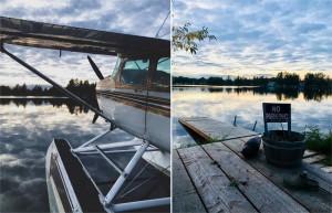 Coucher de soleil sur le lac Spenard...