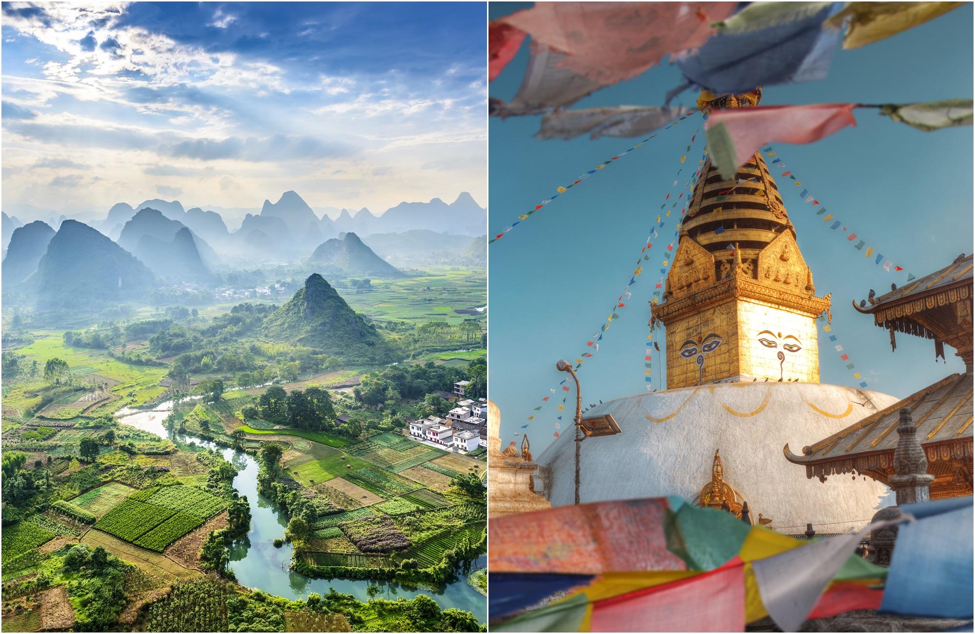 Voyage Chine - Népal - Guilin Swayambhunath - Amplitudes