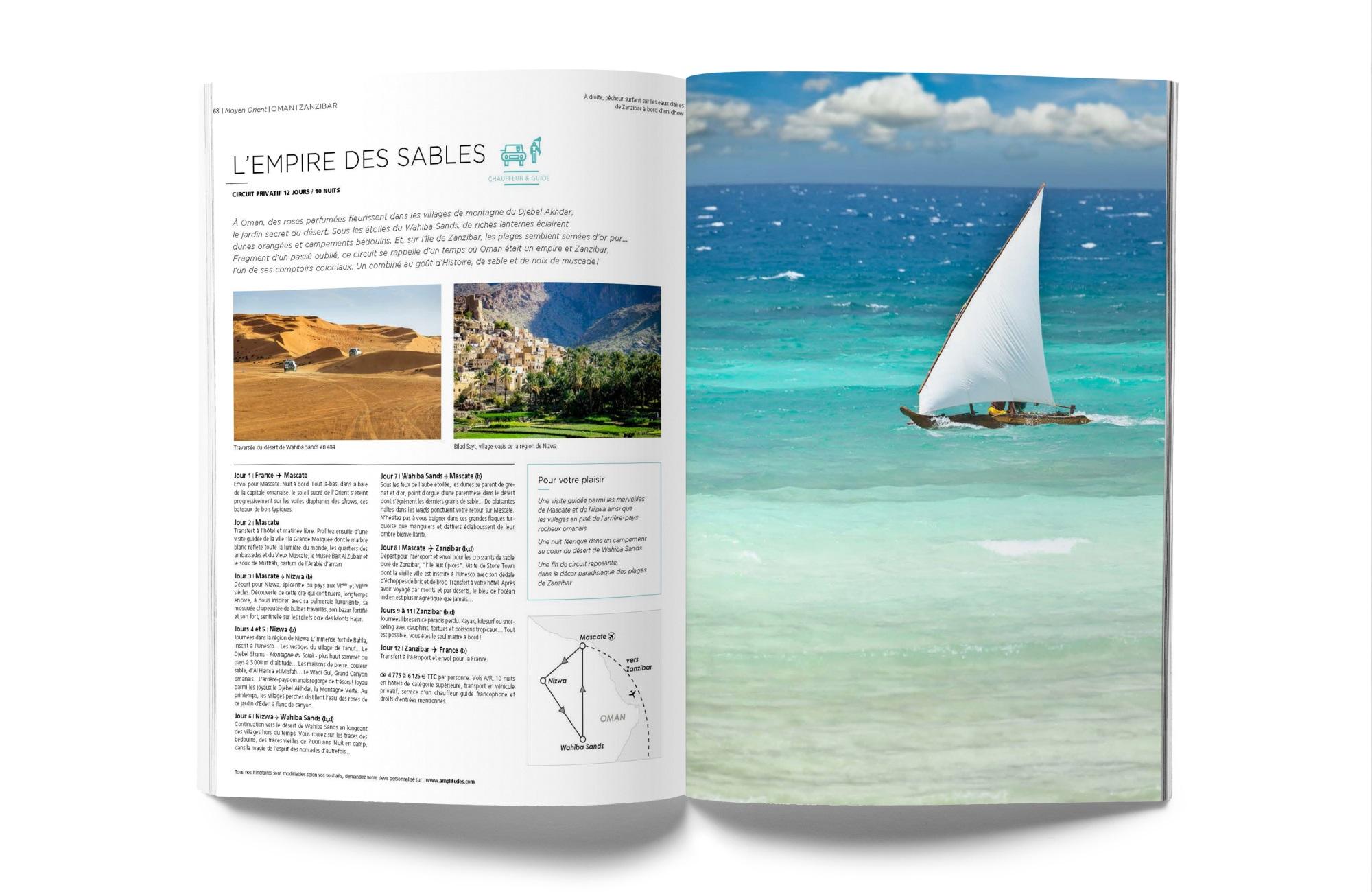 Voyage Oman - Zanzibar - Pages Brochure - Amplitudes