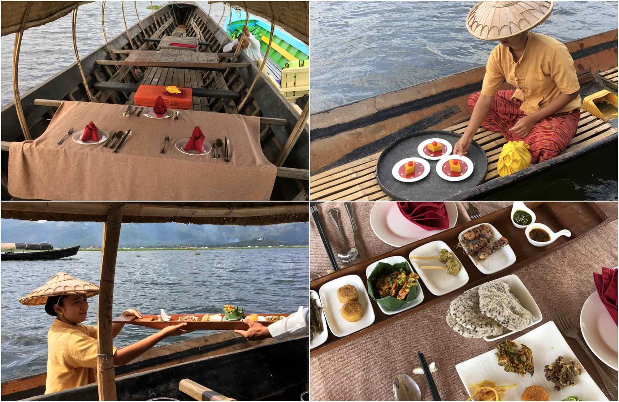 Voyage Birmanie - Déjeuner pirogue lac Inle - Amplitudes