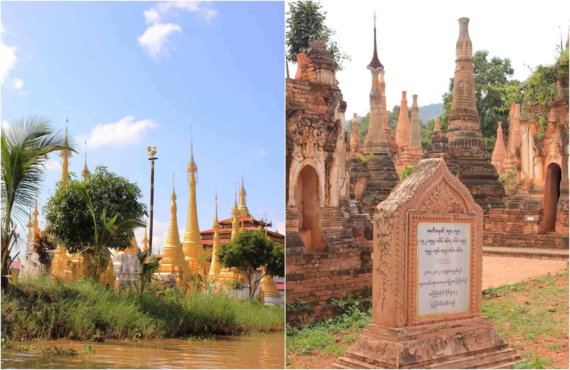 Voyage Birmanie - pagodes shwe Indein - Amplitudes