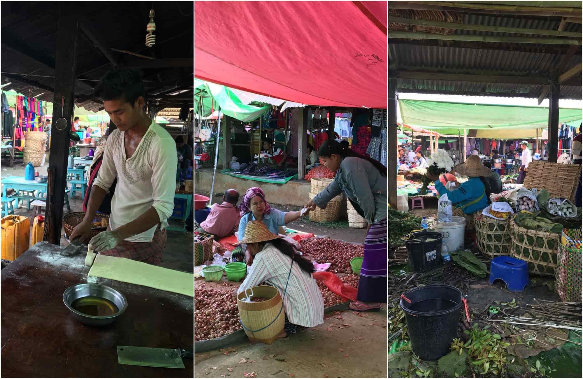 Voyage Birmanie - Marché Heho - Amplitudes