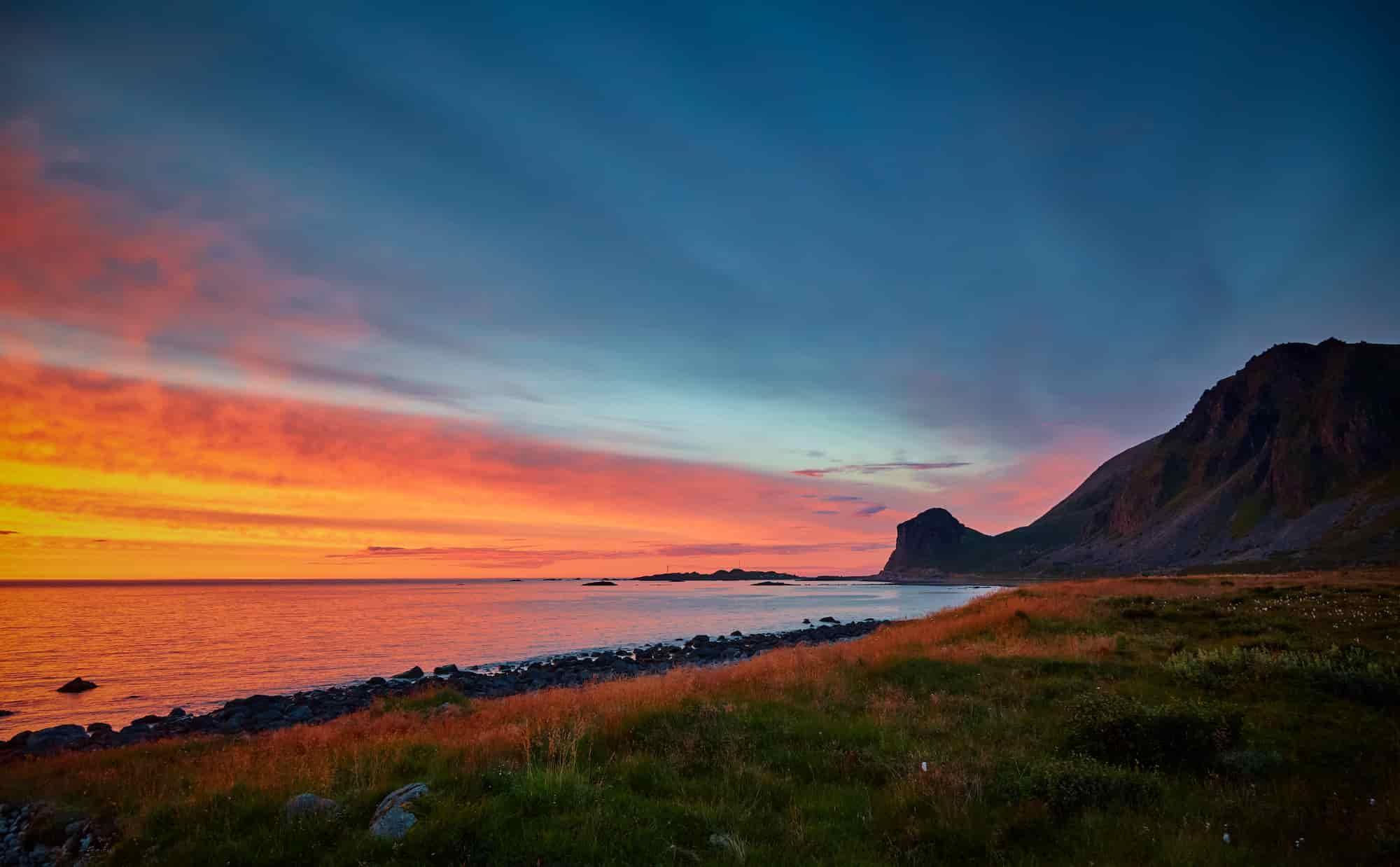 Voyage Norvège - Soleil de minuit à Hodven - Amplitudes