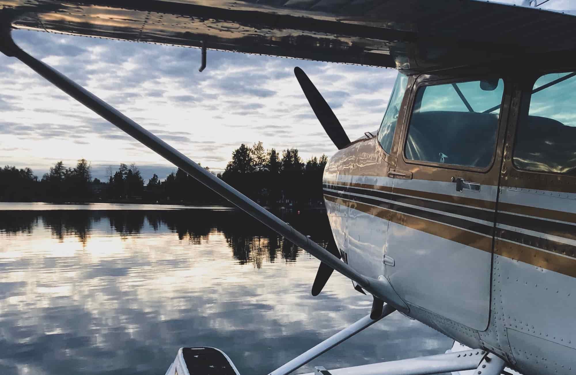 Voyage Etats-Unis Alaska - Hydravion Anchorage lac Spenard - Amplitudes