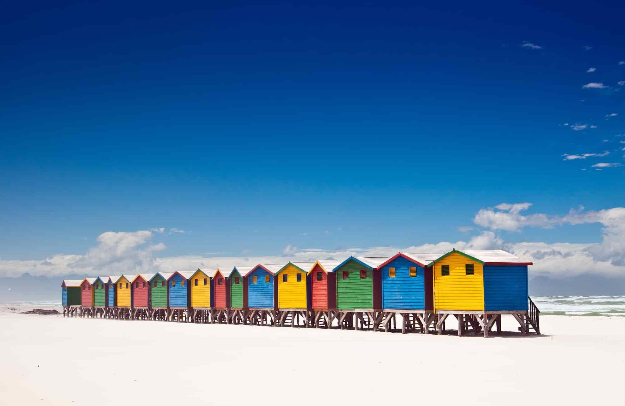 Voyage Afrique du Sud - La plage de Muizenberg - Amplitudes