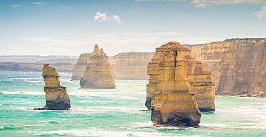 Australie - Formation rocheuse les douze apôtres sur la côte de New South Wales