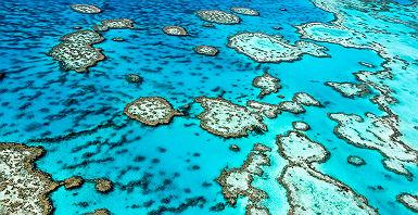 Australie - Vue sur la grande barrière de corail à Queensland
