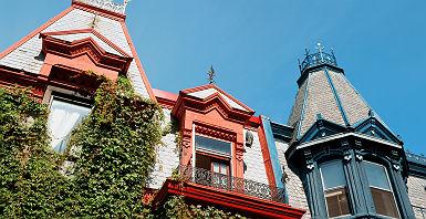 Maisons victoriennes à Montréal - Québec